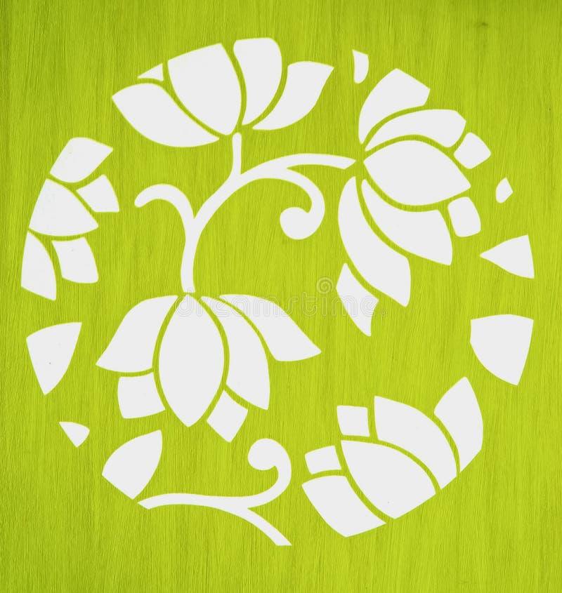 Białego lotosu tapeta zdjęcia stock