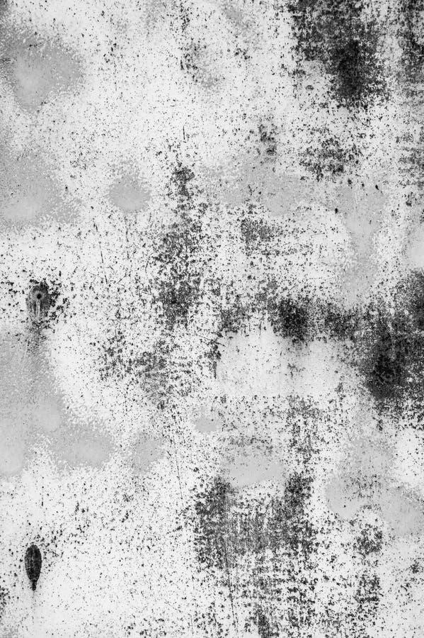 Białego metalu ściany tekstury tło z narysami, pęknięcia obrazy stock