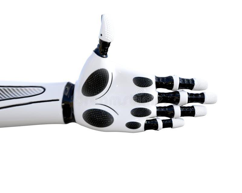 Białego metalu droid ręki gesty ilustracja wektor