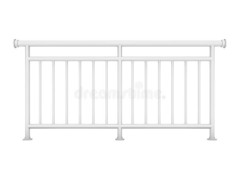 Białego metalu nowożytny poręcz odpłaca się 3d modela royalty ilustracja