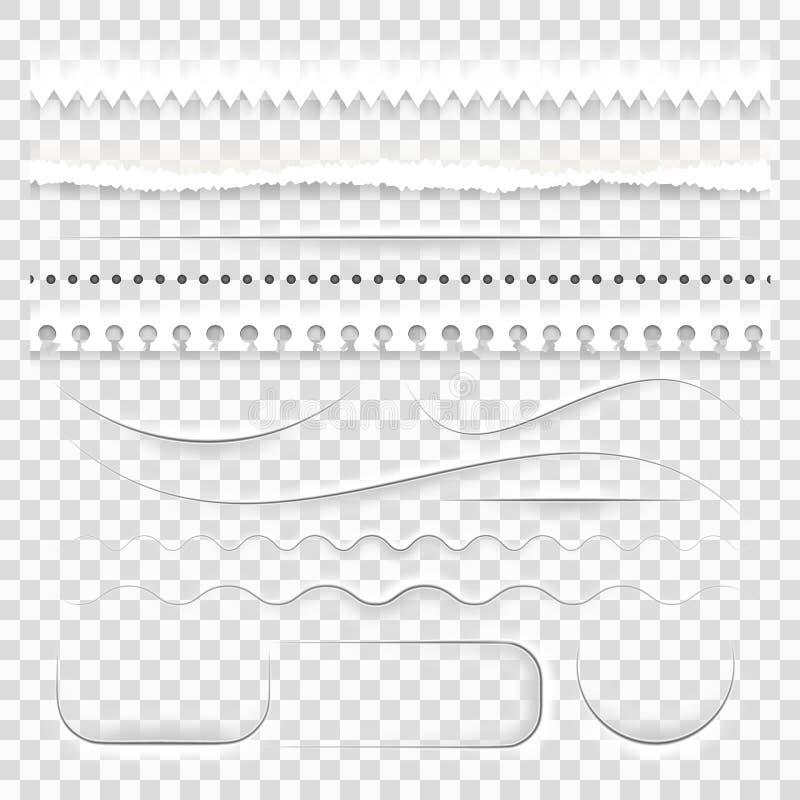 Białego papieru dekoracyjni dividers 10 eps ilustracja wektor