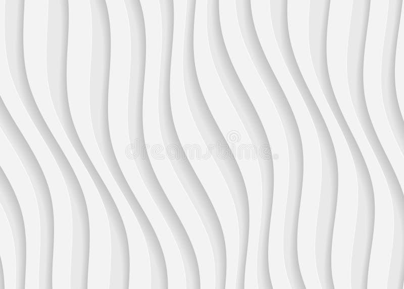 Białego papieru geometryczny wzór, abstrakcjonistyczny tło szablon dla strony internetowej, sztandar, wizytówka, zaproszenie ilustracja wektor