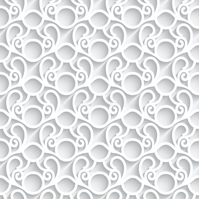 Białego papieru koronki wzór royalty ilustracja