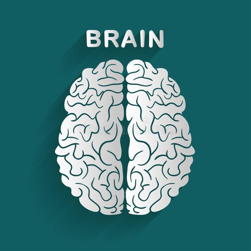 Białego papieru mózg royalty ilustracja