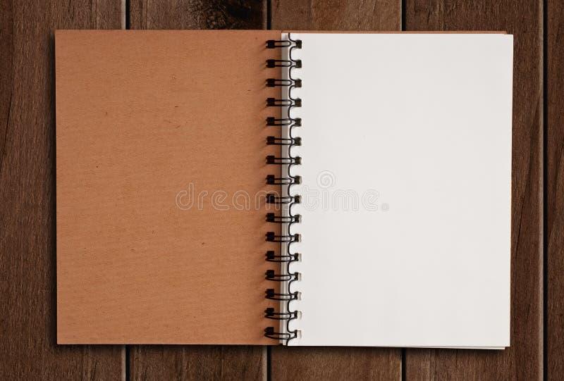 Białego papieru notatnik obrazy stock