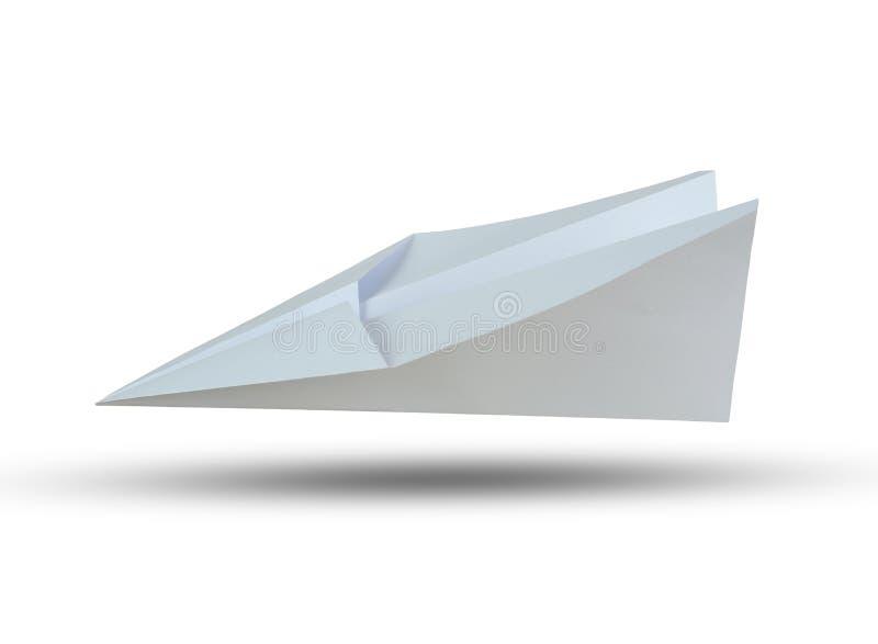 Białego papieru samolot odizolowywający na białym tle obraz royalty free