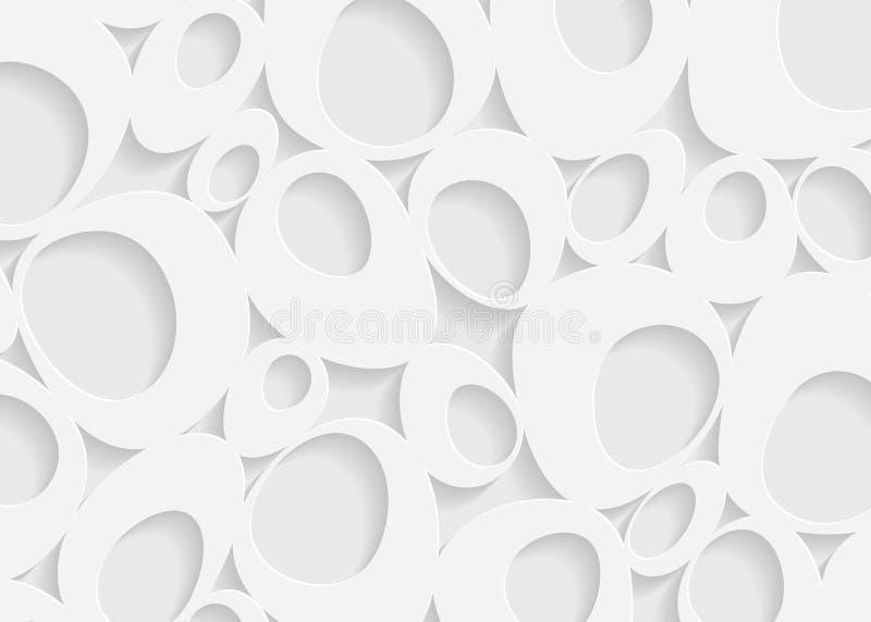 Białego papieru wzoru geometryczny abstrakcjonistyczny tło ilustracja wektor