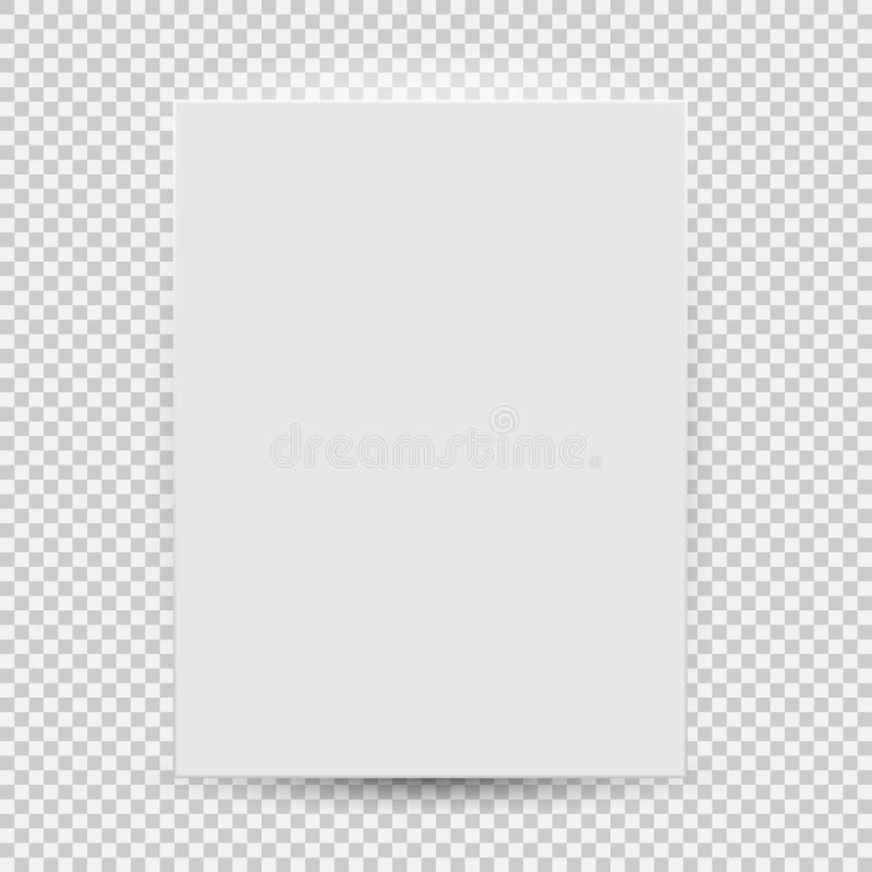 Białego puste miejsce modela szablonu odgórny widok z cieniem odizolowywającym na przejrzystym tle również zwrócić corel ilustrac royalty ilustracja