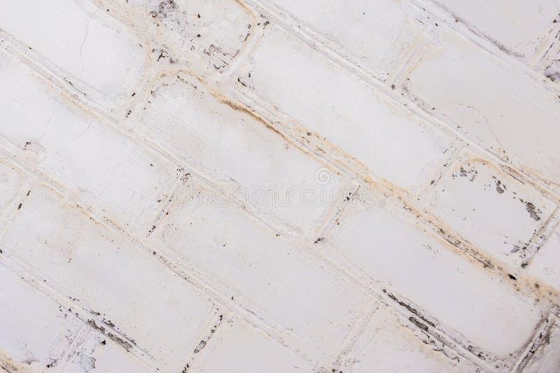 Białego tła ściana z cegieł stara tekstura fotografia royalty free