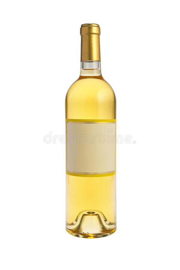 Białego wina butelka obrazy stock