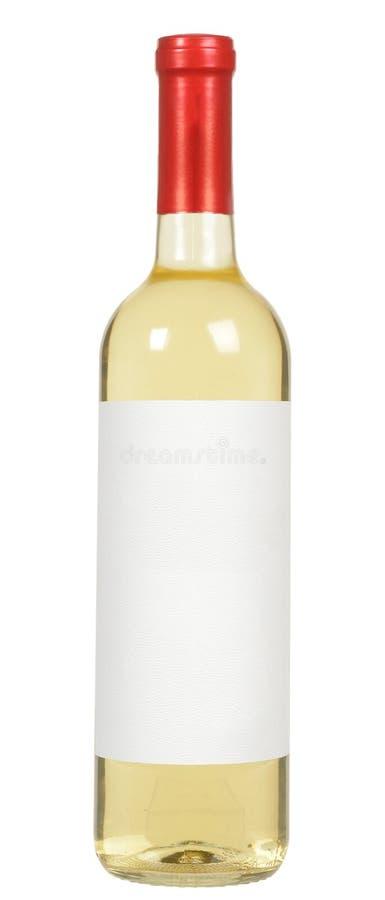 Białego wina butelka obraz royalty free
