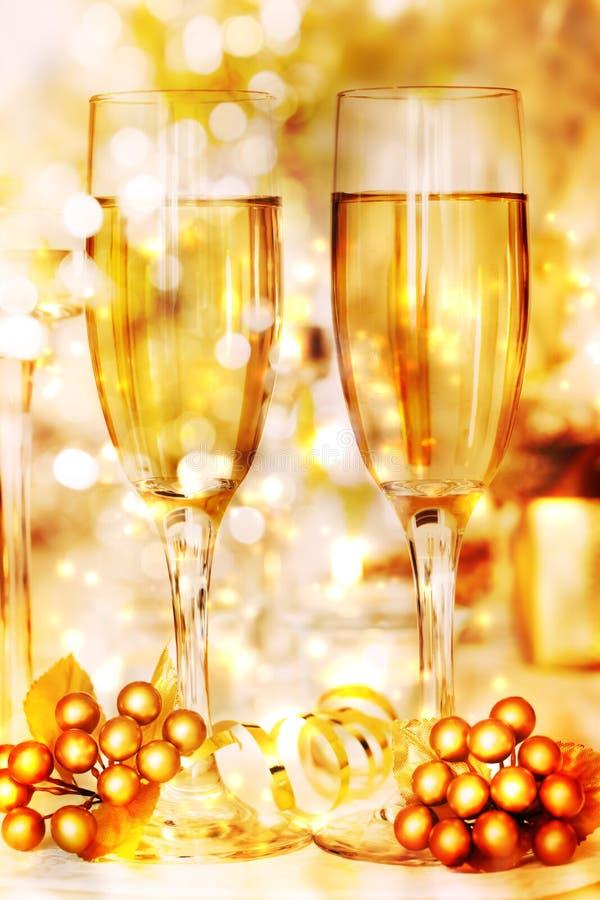 Białego wina czas zdjęcie stock
