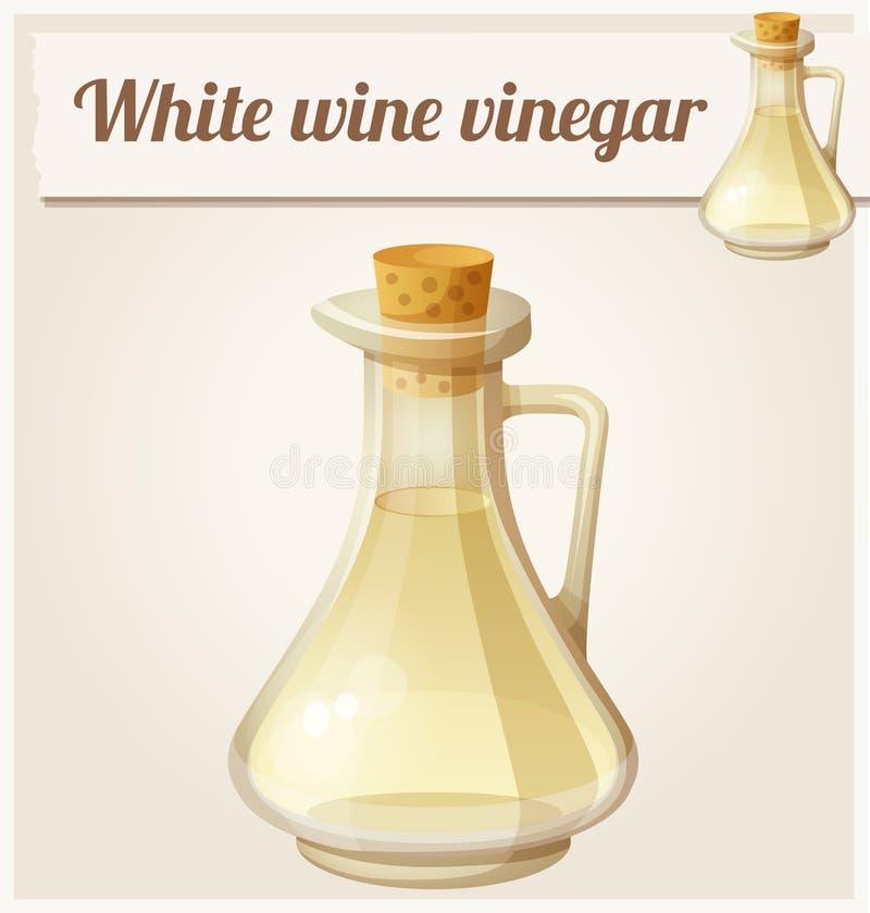Białego wina ocet Szczegółowa Wektorowa ikona ilustracji