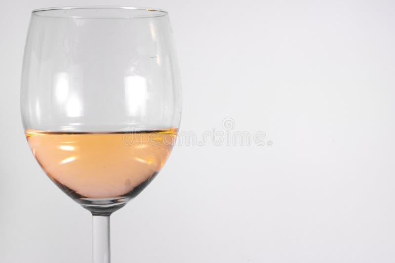 Białego wina szkła Odosobnionego Białego tła alkoholu Abstrakcjonistyczny zbliżenie zdjęcia royalty free