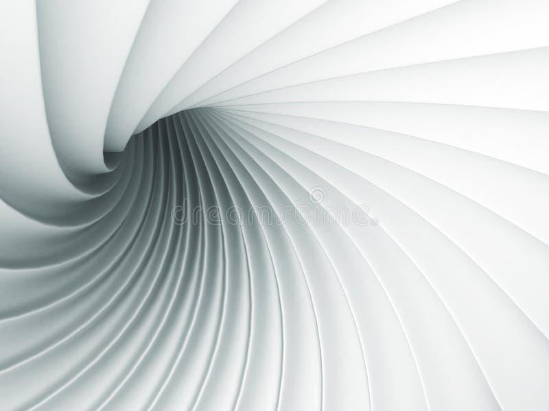 Białej abstrakt fala spirali Geometryczny tło ilustracja wektor