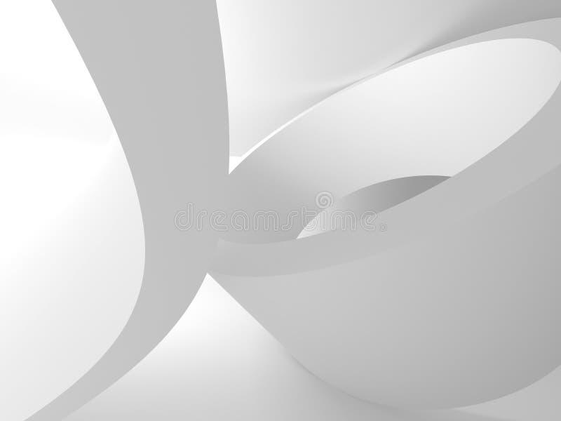 Białej architektury budowy Nowożytny Wewnętrzny tło ilustracji