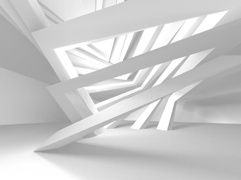 Białej architektury budowy Nowożytny Wewnętrzny tło ilustracja wektor
