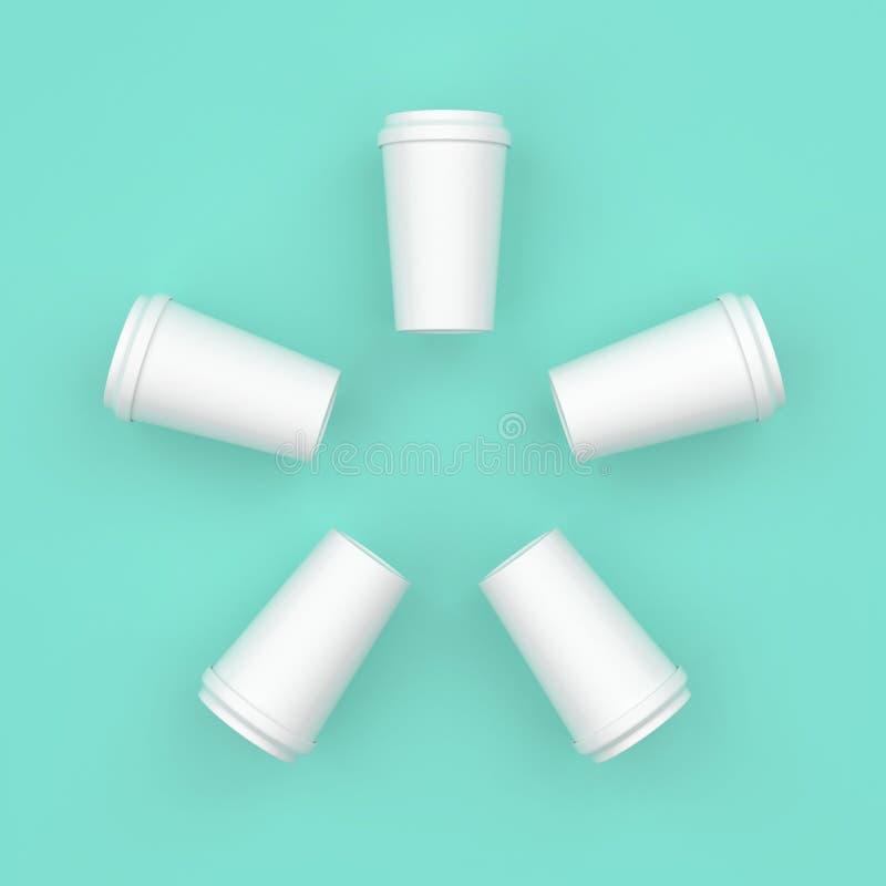 Białej filiżanki kreatywnie minimalny projekt obraz stock