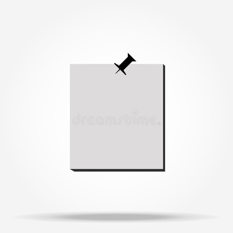 Białej księgi notatka z wałkowym czernią, wektorowa ilustracja ilustracja wektor
