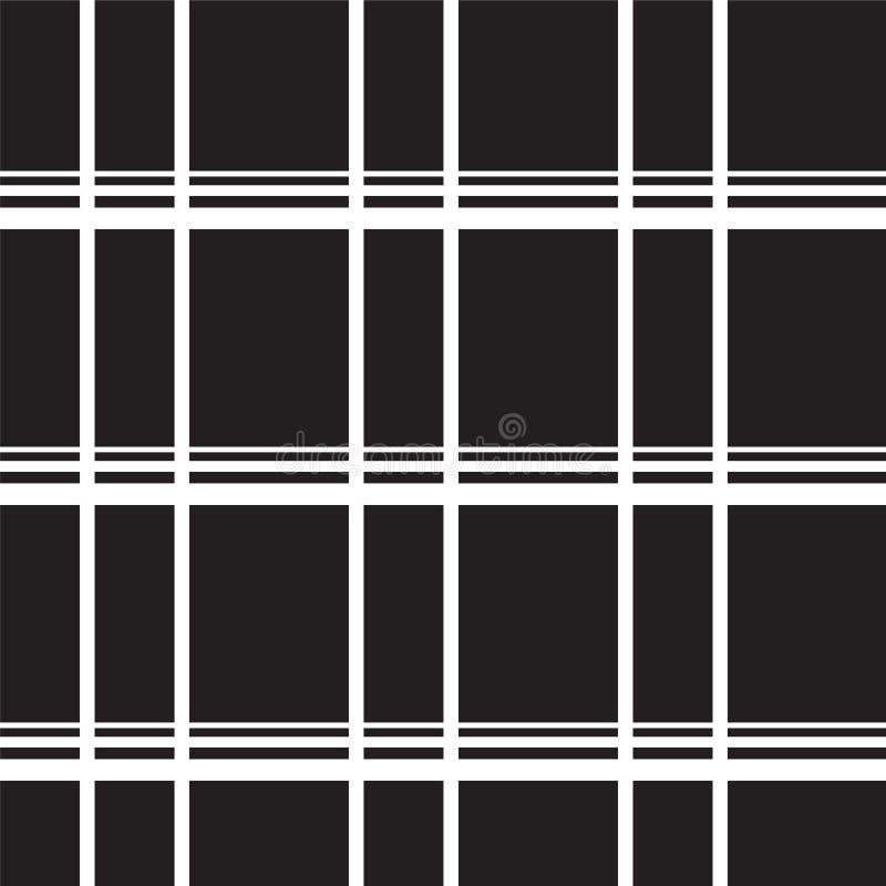 Białej linii cięcia wzór na czarnym tle ilustracja wektor