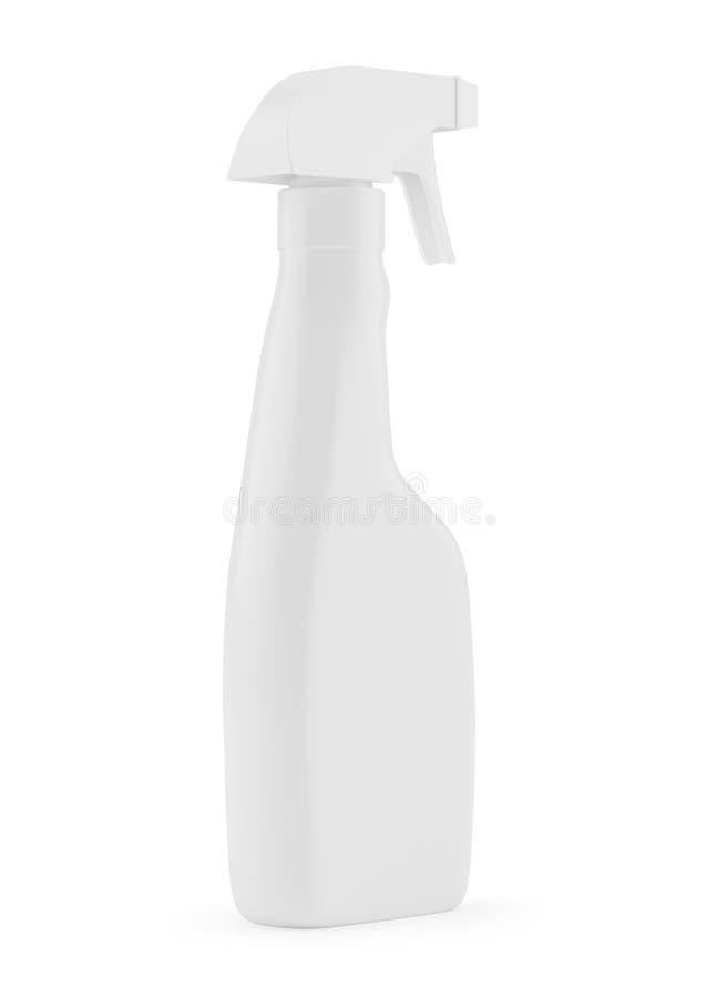 Białej pustej plastikowej kiści detergentowa butelka odizolowywająca na tle ilustracja wektor