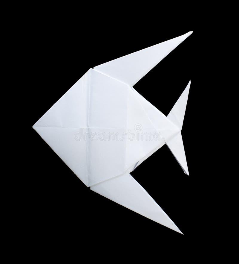 Białej ryba fałdowy origami zdjęcia stock
