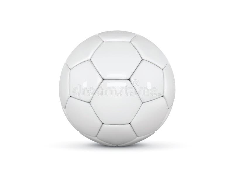 Białej skóry piłka tła balowy piłki nożnej biel Futbolowa 3d piłka ilustracja wektor