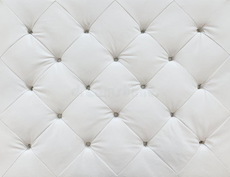 Białej skóry tapicerowania tekstury luksusowy tło zdjęcia stock