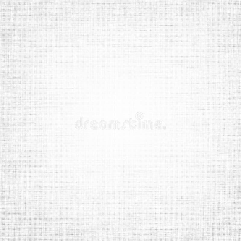Białej tło brezentowej tekstury siatki delikatny wzór ilustracja wektor