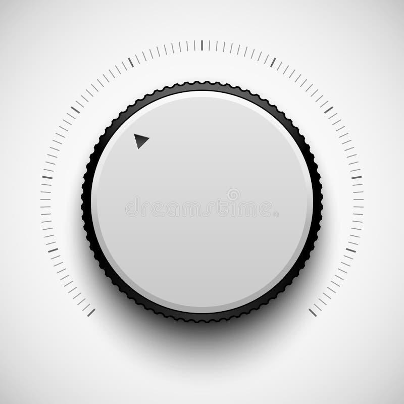 Białej technologii Muzyczny guzik ilustracji
