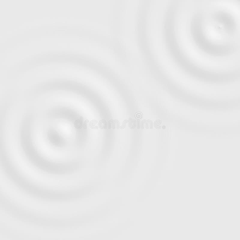 Białej wody pierścionek z ciekłą czochrą, miękka tło tekstura royalty ilustracja