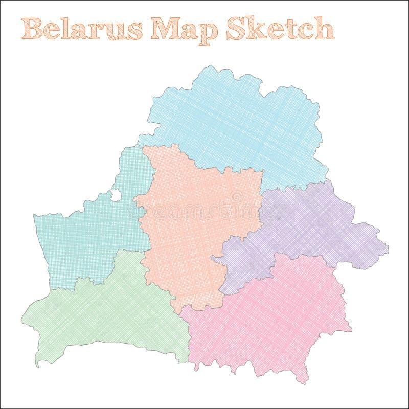 Białoruś mapa ilustracja wektor