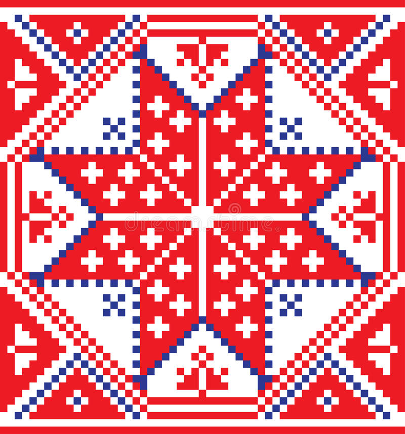 Białoruski etniczny ornament, bezszwowy wzór również zwrócić corel ilustracji wektora royalty ilustracja