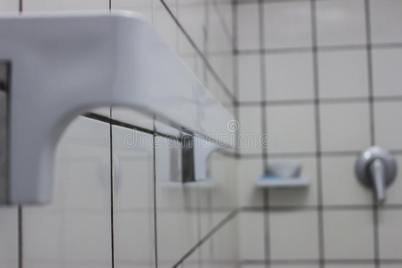 Biały łazienki zbliżenie zdjęcie royalty free