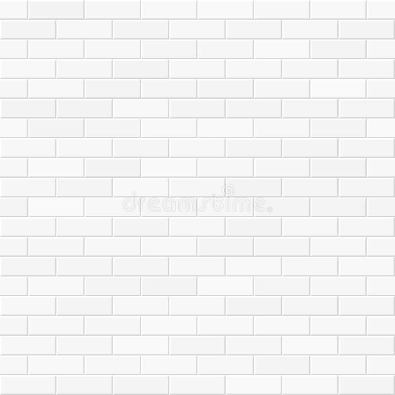 Biały ściana z cegieł bezszwowy royalty ilustracja