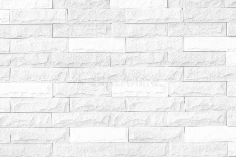 Biały ściana z cegieł tło, biała ściana z cegieł tekstura nowożytny ideał dla tła i używać w wewnętrznym projekcie/ fotografia royalty free