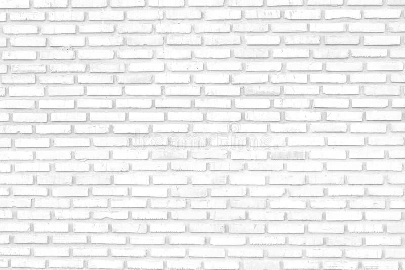 Biały ściana z cegieł tło, biała ściana z cegieł tekstura nowożytny ideał dla tła i używać w wewnętrznym projekcie/ obrazy stock