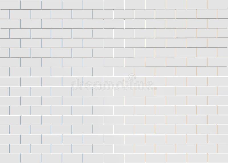 Biały ściana z cegieł wzoru tło ilustracja wektor