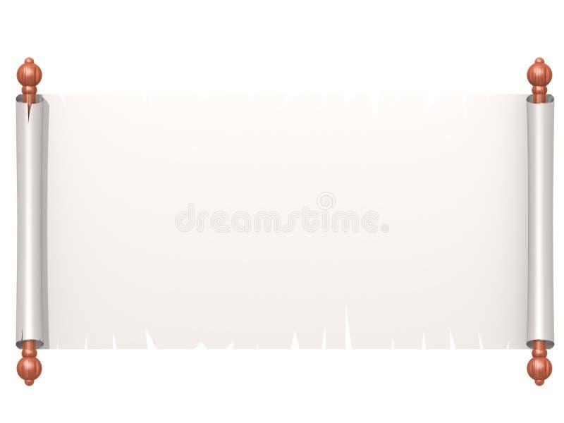 Biały ślimacznica papier odizolowywający na bielu royalty ilustracja