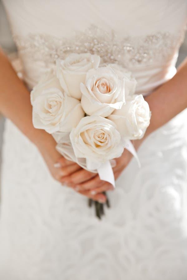 Biały Ślubny bukiet zdjęcia stock