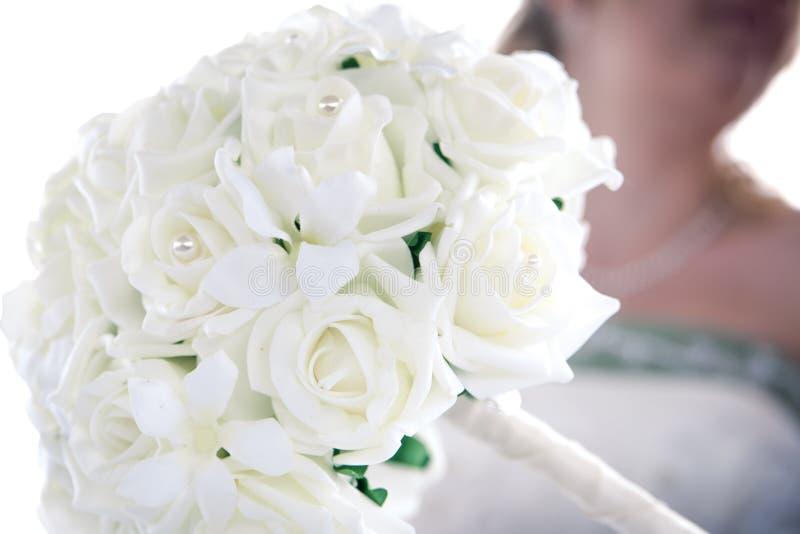 Biały ślubny bukiet zdjęcie stock