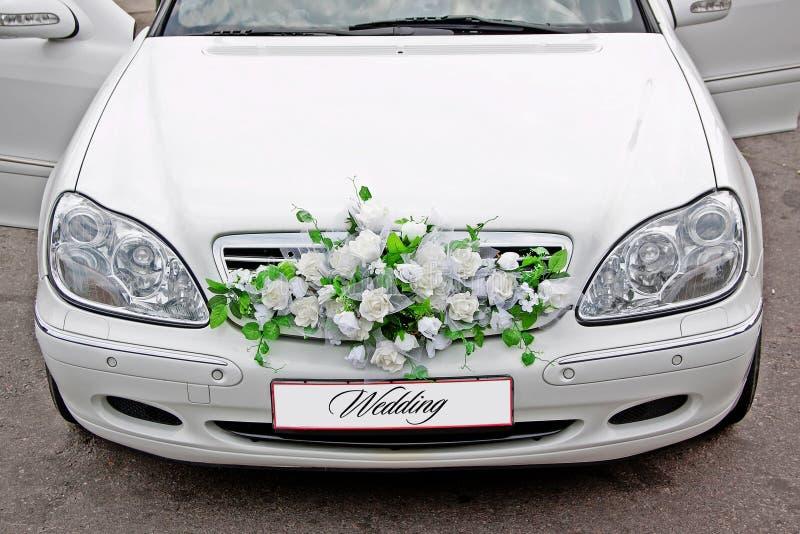 Ślubny samochód obraz royalty free