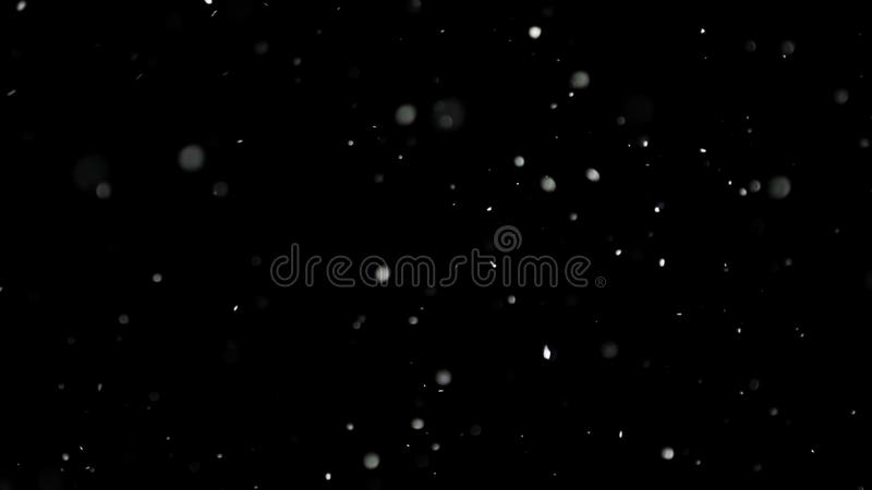 Biały Śnieżny Spadać na Odosobnionym Czarnym tle zdjęcie stock