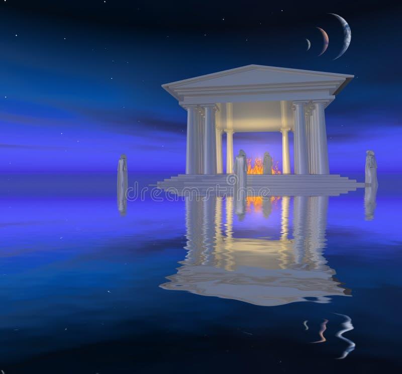 Biały świątynia ilustracja wektor