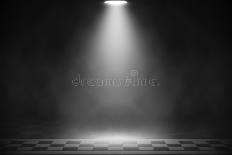 Biały światło reflektorów na mecie bieżny drogowy tło zdjęcia stock