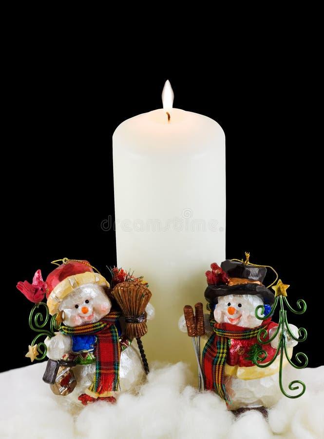 biały świeczka bałwany zdjęcia stock