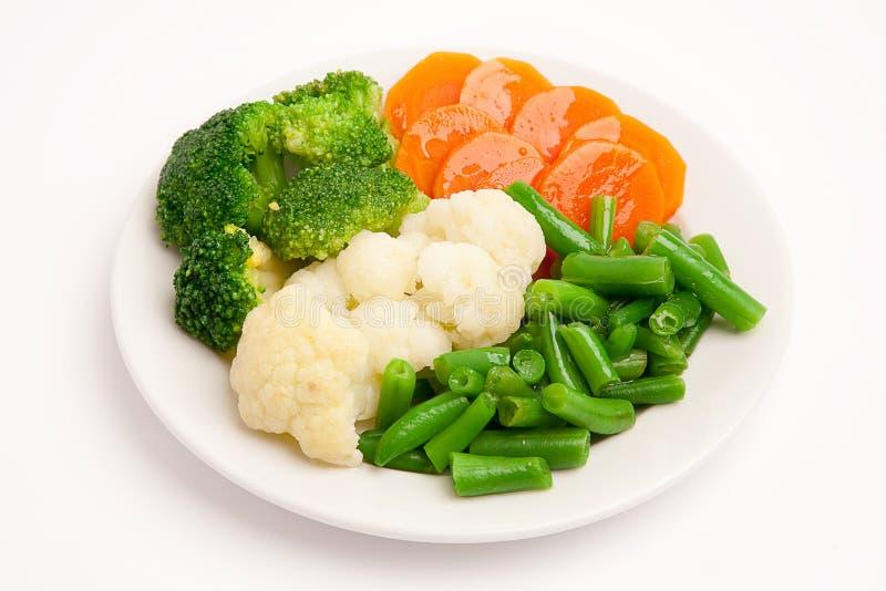 biały świezi półkowi warzywa zdjęcia royalty free