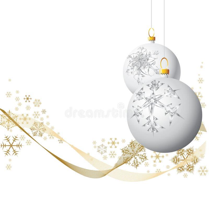 biały żarówek boże narodzenia ilustracja wektor