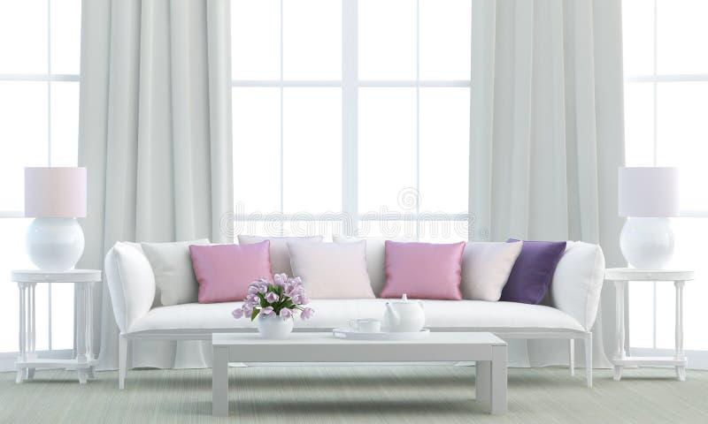 Biały żywy pokój obrazy stock