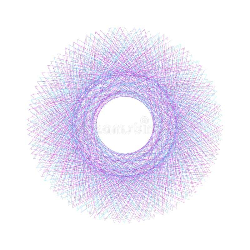 Biały Abstrakcjonistyczny cyfrowy kreskowej sztuki kwiecisty wzór może używać dla świadectw Editable uderzenie Wektorowy element  royalty ilustracja